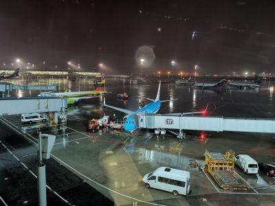 Aéroport de Moscou-Cheremetievo la nuit
