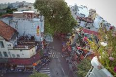 Rue de Hanoi vue d'une terrasse