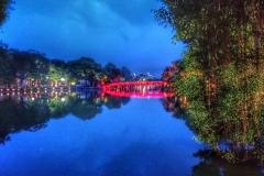 Lac et pont de Hanoi