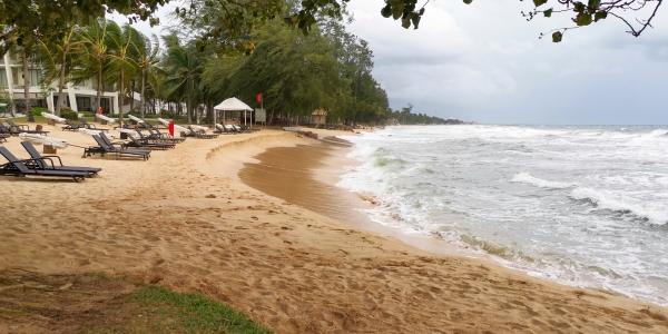 Plage privée Shell resort Phu Quoc