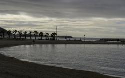 Le Prado à Marseille en hiver