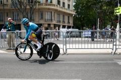 Coureur maillot bleu Marseille
