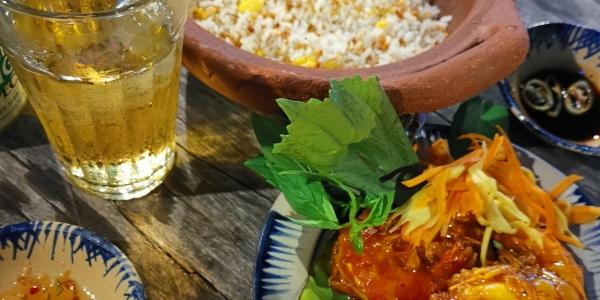 Crevette caramélisée  au sel