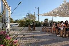 Restaurant terrasses en bor de mer