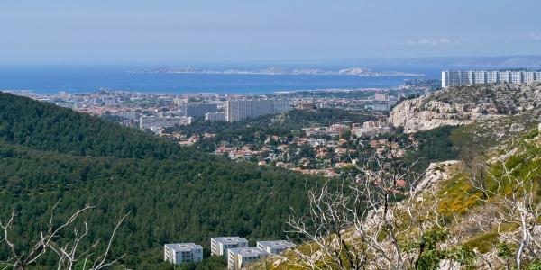Vue du Col de la Gineste 13009 Marseille