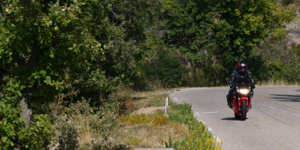 Route des Crêtes en moto