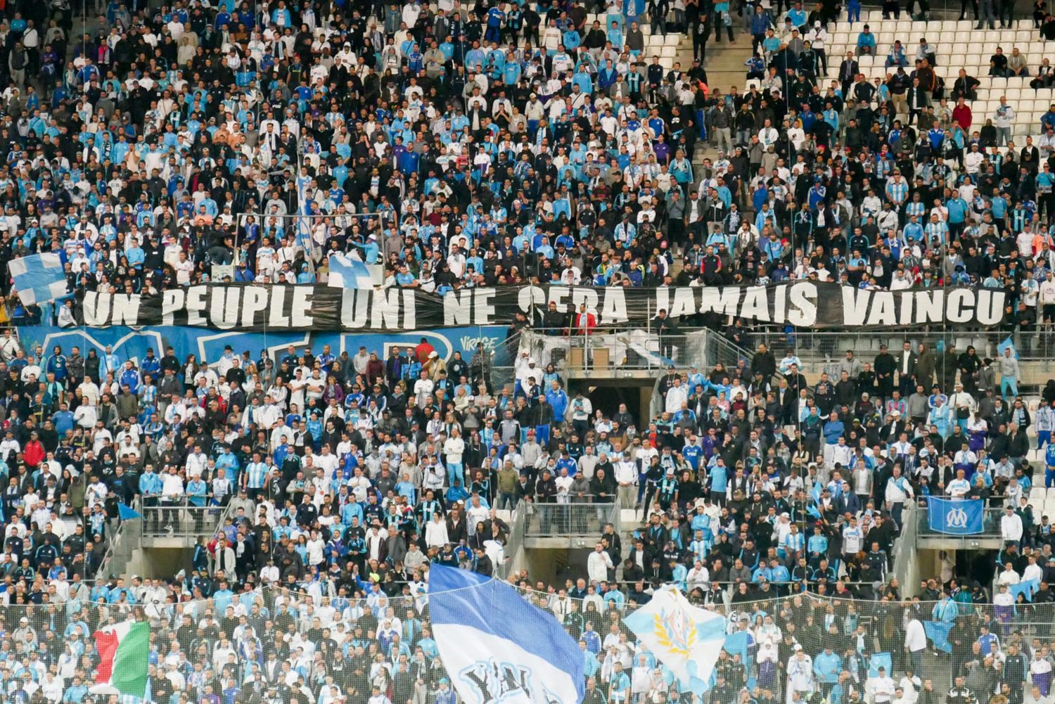 Football OM PSG au stade Orange Vélodrome