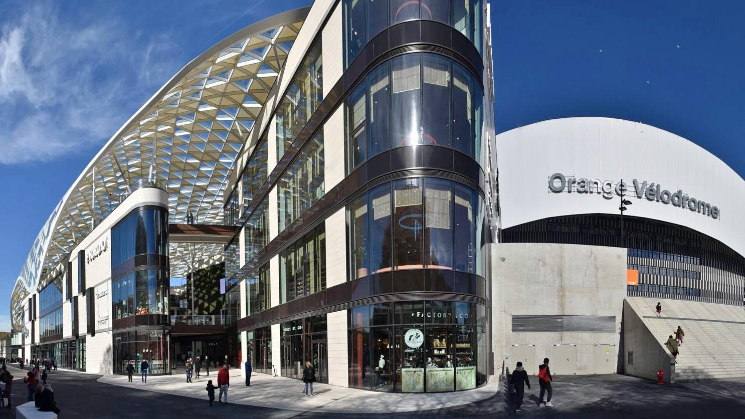 Centre commercial du Prado shopping d'exception à Marseille Orange Vélodrome