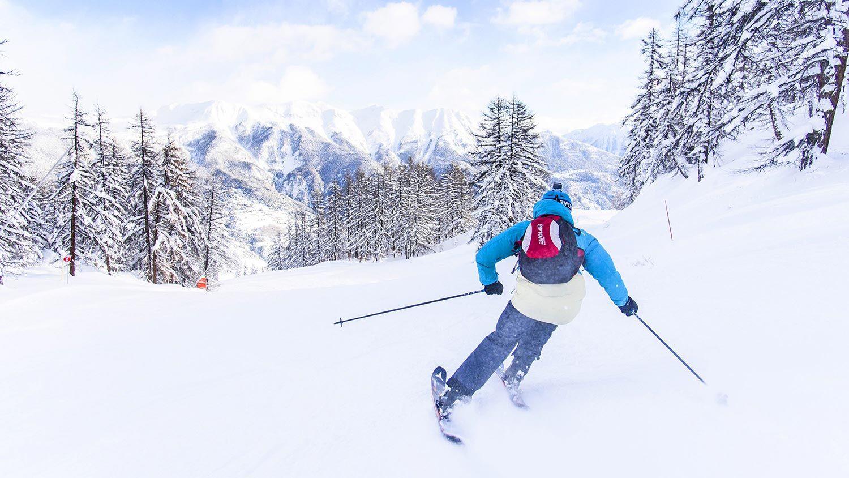 Le ski bobo à la station de Serre Chevalier près du Parc National des Écrins