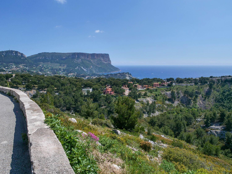 Photos du Col de la Gineste reliant Marseille et Cassis