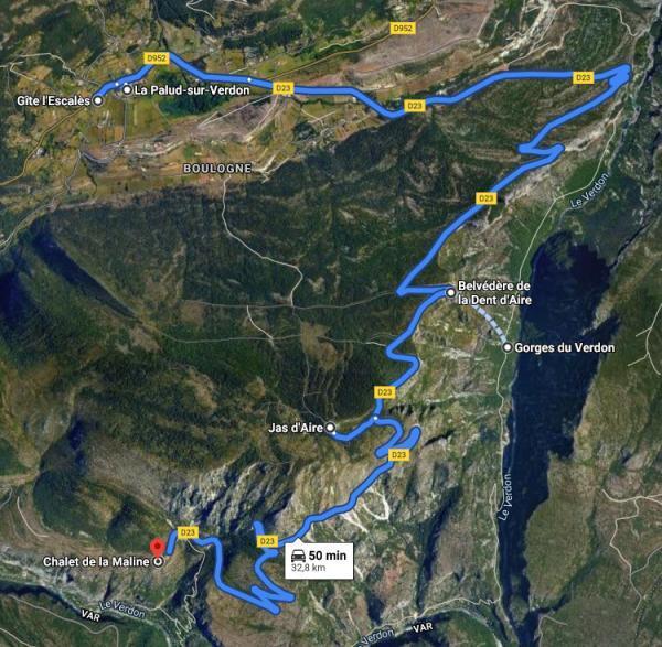 Route des crêtes des Gorges  du Verdon