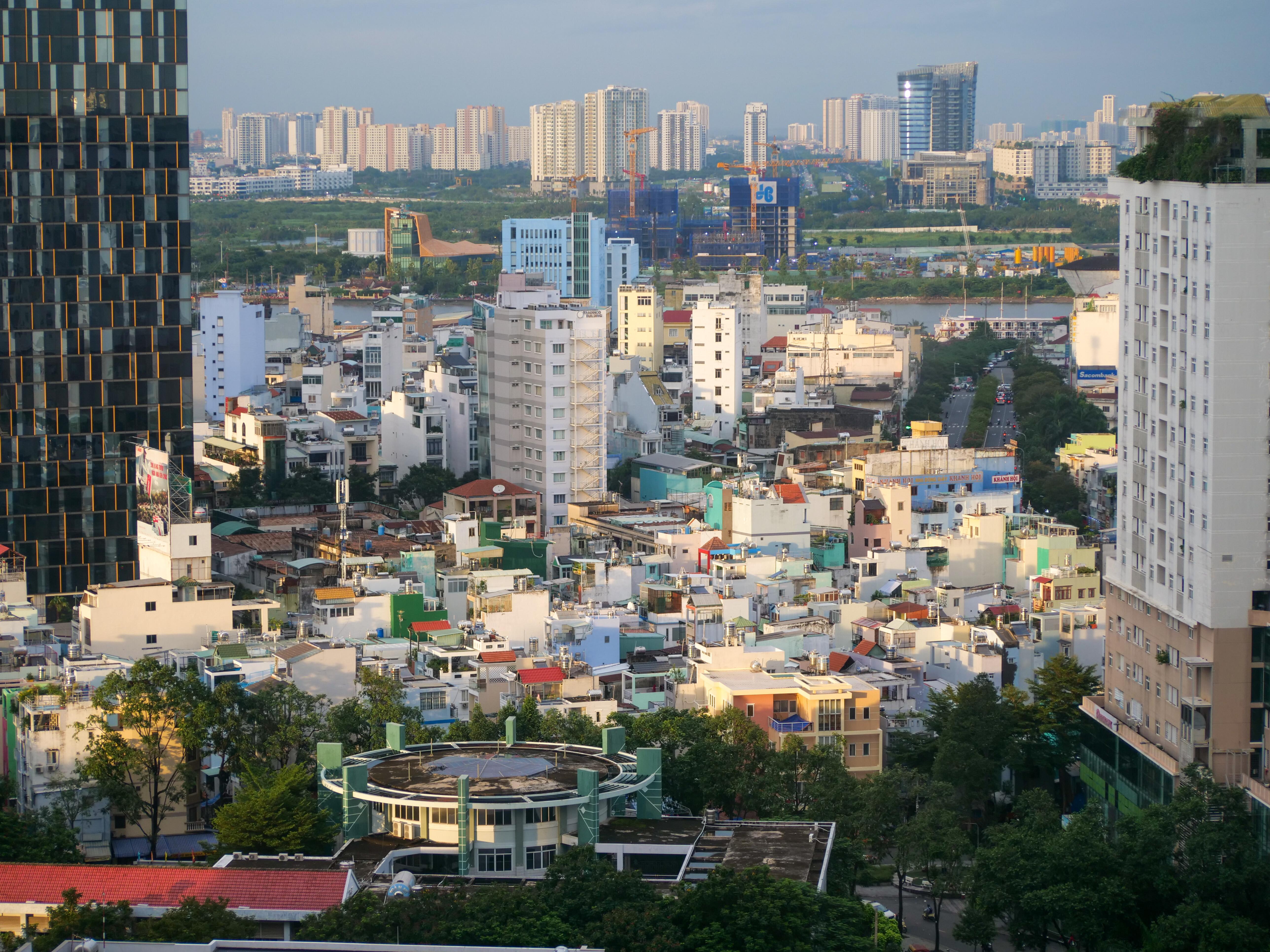 Skyscrapers, skyline et rooftop à Saigon Ho Chi Minh Ville